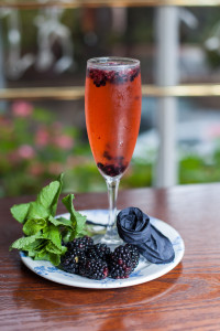 Almond and Blackberry fizz